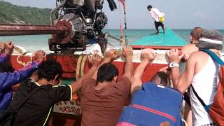 Boating From Haad Rin To Haad Tien, Koh Phangan, Thailand