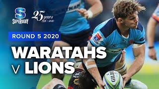 Waratahs v Lions Rd.5 2020 Super rugby video highlights | Super Rugby Video Highlights
