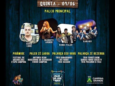 TV Junina ao vivo do Parque do Povo - 09/06/2016