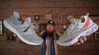 Video NIKE REACT ELEMENT 87 VS ADIDAS ULTRABOOST! (Which Sneaker is More Comfortable?) MP3, 3GP, MP4, WEBM, AVI, FLV September 2018