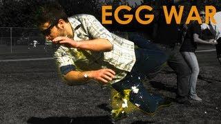 Egg WAR in Slow Motion