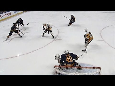 Video: Crosby converts on Sabres' giveaway