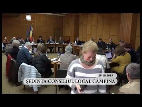 Sedinta ordinara a Consiliului Local Campina din luna octombrie 2015 – partea I