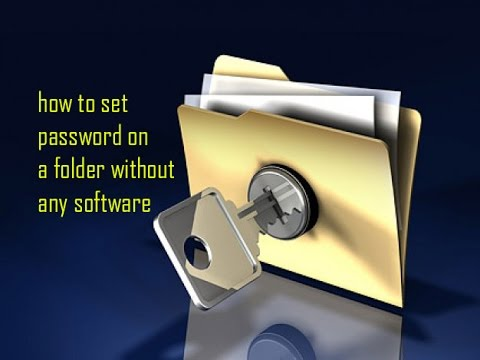 how to set password for folders without any softwares in windows 10, 8,7,xp(english)