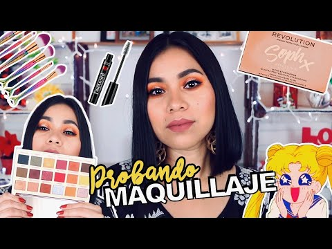 Videos de uñas - PROBANDO MAQUILLAJE Y BROCHAS: Revolution, Sailor Moon, Ardell Beauty, IM, Essence  Karla BURELO :)