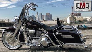 7. CMC Motorsports California Gangster Style Harley-Davidson Black Cherry Road King