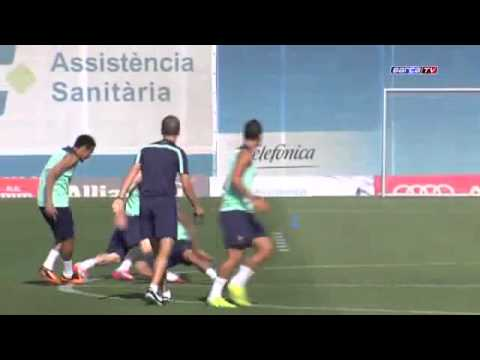 comment assister entrainement fc barcelone