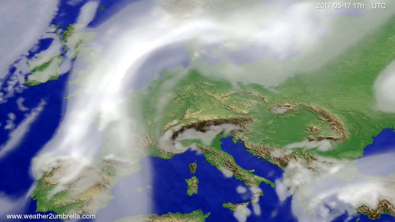 Cloud forecast Europe 2017-05-15