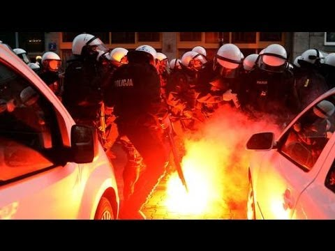 Warsaw, Poland: Violence At Nationalist March