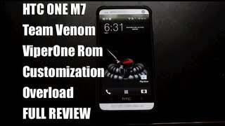 HTC One M7 Team Venom Viper Rom ViperOne [FULL REVIEW] Tons Of Customizations!