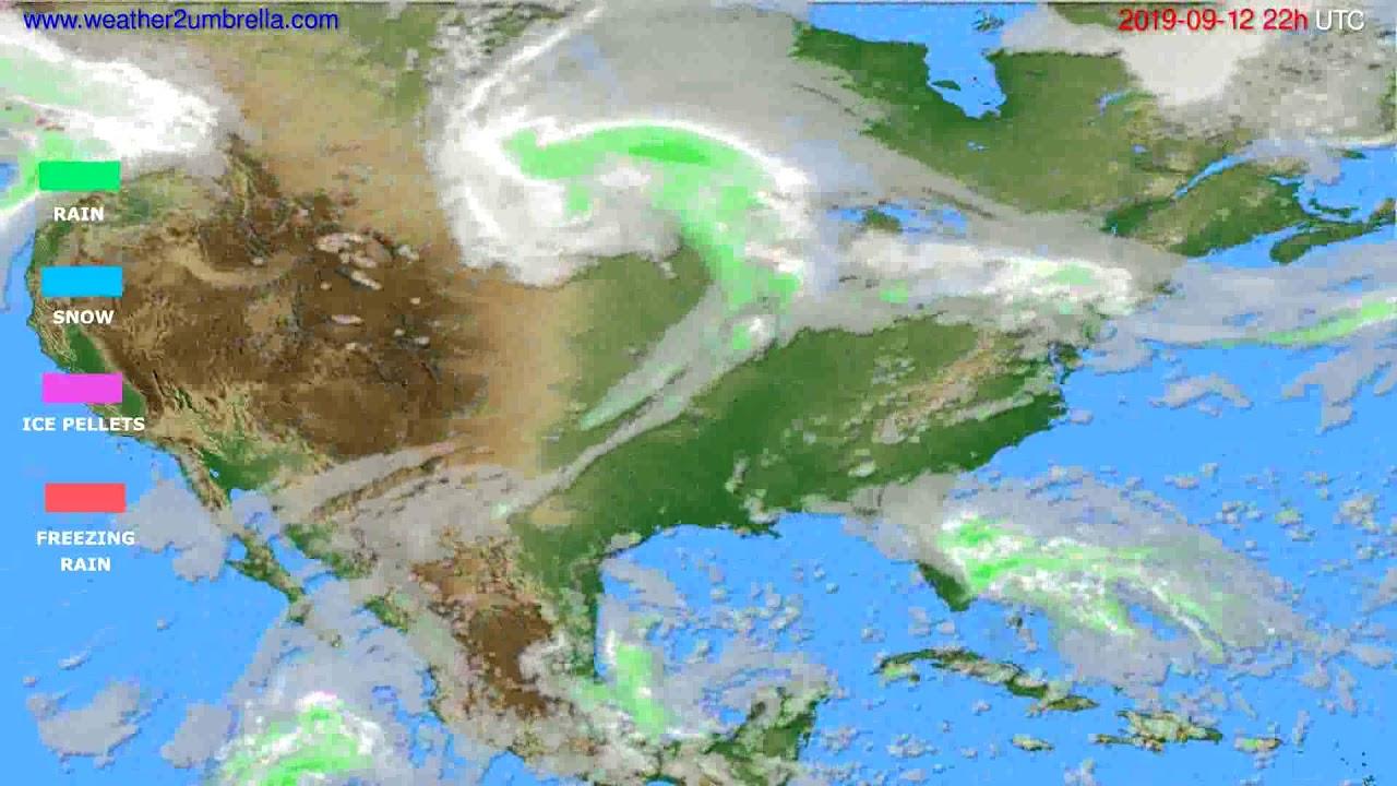 Precipitation forecast USA & Canada // modelrun: 00h UTC 2019-09-10
