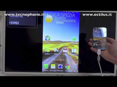 Come collegare Galaxy S4 alla TV (HDMI) con adattatore MHL Samsung