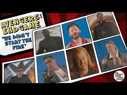 Avengers: Endgame Cast Sings