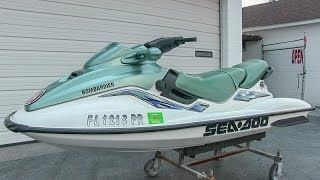 5. 2000 Sea-Doo GTi jet ski walk-around tutorial video