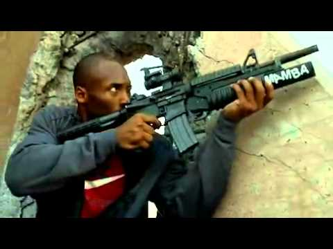 Kobe Bryant & Jimmy Kimmel  In Call Of Duty Black Ops Commercial (war)