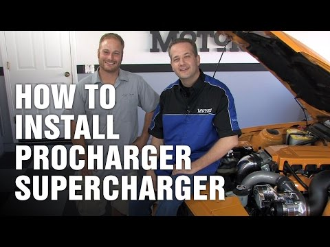 supercharger - Chris Duke from Motorz TV http://www.motorz.tv/ shows you how to install an ATI ProCharger supercharger on a 2008 Ford Mustang GT. Special appearance from AT...