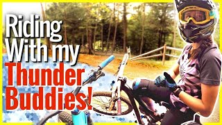 We celebrated my birthday by riding one of the best bike parks on the east coast. Thunder Mountain Bike Park, is where I filmed the huffy carnage video, good news is there was no carnage today just plain old fun. I met up with a bunch of my friends, and a bunch of local shredders for  some good time.Thunder Mountain Bike Park + Friends = Thunder buddies.SUBSCRIBE ▶︎ https://goo.gl/xu5U0hPatreon Community ▶︎ https://goo.gl/8SHpPFHailey's Channel ▶︎  https://www.youtube.com/c/haileysarauskyWant to know what bike I ride, or gear I use?My Bike Gear ▶︎ https://goo.gl/9LrYtRInstagram ▶︎ https://www.instagram.com/philkmetz/Facebook ▶︎ https://www.Facebook.com/philkmetz/Most Recent ▶︎ https://goo.gl/10Kw6d8 Simple MTB Tricks ▶︎ https://www.youtube.com/watch?v=Uuyn7A1Yb8A&list=PLKhb73W7eMRH_Ov7BeDivctjXAD2bTsOJ&index=18 Fun MTB Tricks ▶︎ https://www.youtube.com/watch?Walmart Bike Torture Test ▶︎ https://youtu.be/wkMnk_eCDQU?list=PLKhb73W7eMREOqKUAP4u-qXKzvgUy0zGWEvil Calling ▶︎ https://www.youtube.com/watch?v=5irX8yVn0uw&list=PLKhb73W7eMREOqKUAP4u-qXKzvgUy0zGW&index=2