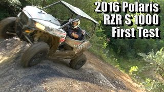 6. 2016 Polaris RZR S 1000, First Test
