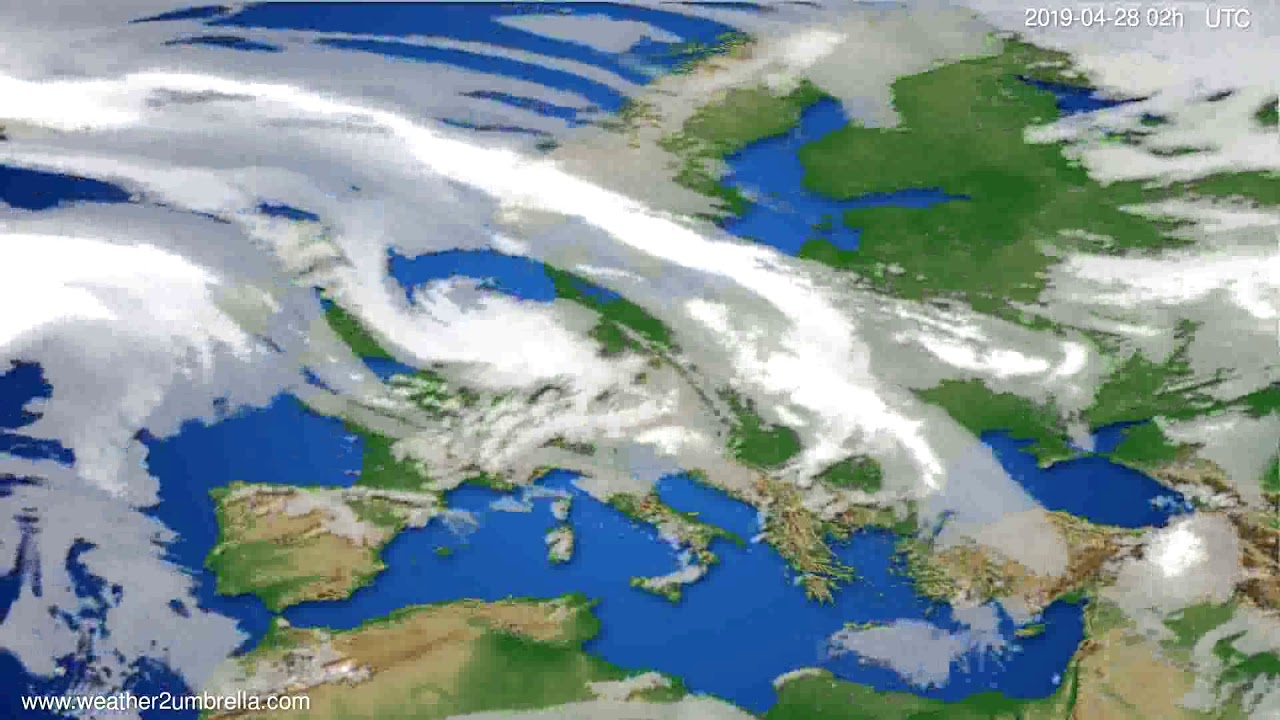 Cloud forecast Europe // modelrun: 00h UTC 2019-04-26