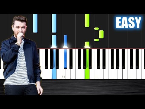 Sam Smith - I'm Not The Only One - EASY Piano Tutorial by PlutaX - Synthesia (видео)