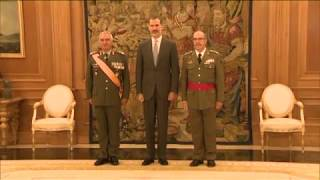 Audiencia de S.M. el Rey al General Mikhail Kostarakos, Presidente del Comité Militar de la UE
