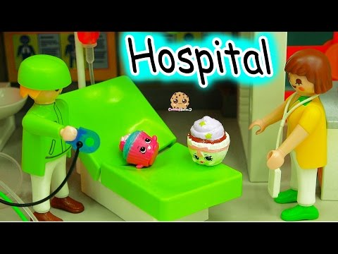 Shopkins Craziest Day At the Playmobil Children's Hospital Part 2