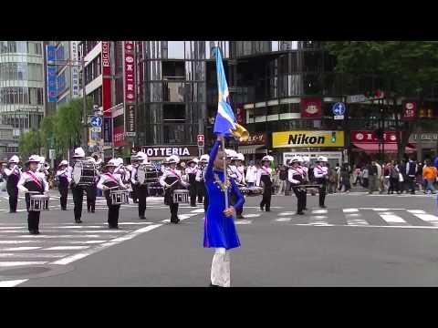 武蔵野中学校・高等学校マーチングバンド部(第八回銀座柳まつり 銀座ゴールデンパレード)
