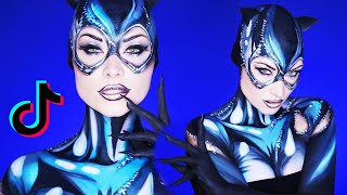 Stay Home & Become Cat Woman (ENTIRELY Makeup!) | TikTok by Madeyewlook