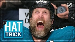 Joe Thornton leads Sharks with hat trick by NHL