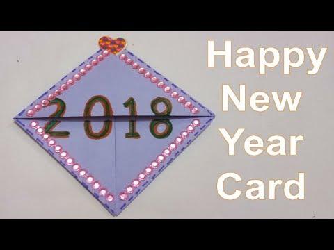 How to make Happy New Year Greeting Card 2018 | #TukkuTV