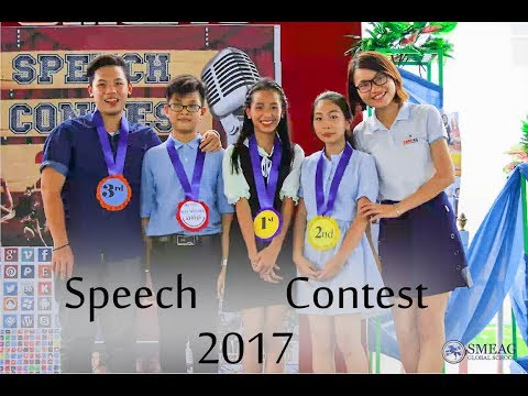 [Learning English] English Academy in Cebu, Philippines: Speech Contest 2017
