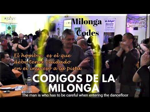 Codigos de la milonga, del bailarín de tango, pista y baile. milonga Codes. Made in Buenos Aires