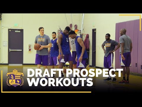 Video: Lakers Draft Prospect Workouts: Bryant, Williams-Goss, Beachem, Hawkins, White