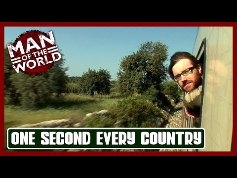 "Man successfully visits all 201 countries w/o flying - 1 sec ""selfies"" in each country"
