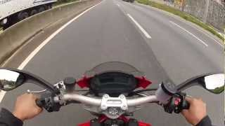 7. Monster 1100 - Na Fernão Dias não deu top speed