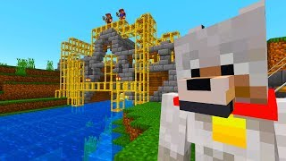 NITRO'S WORLD ADVENTURES - BUILDING a Pig FARM - MINECRAFT XBOX [4]