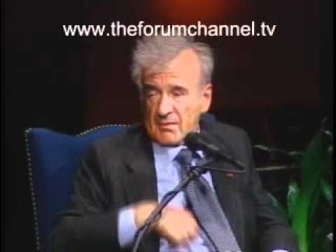 "Elie Wiesel explains why ""hate is a cancer"""