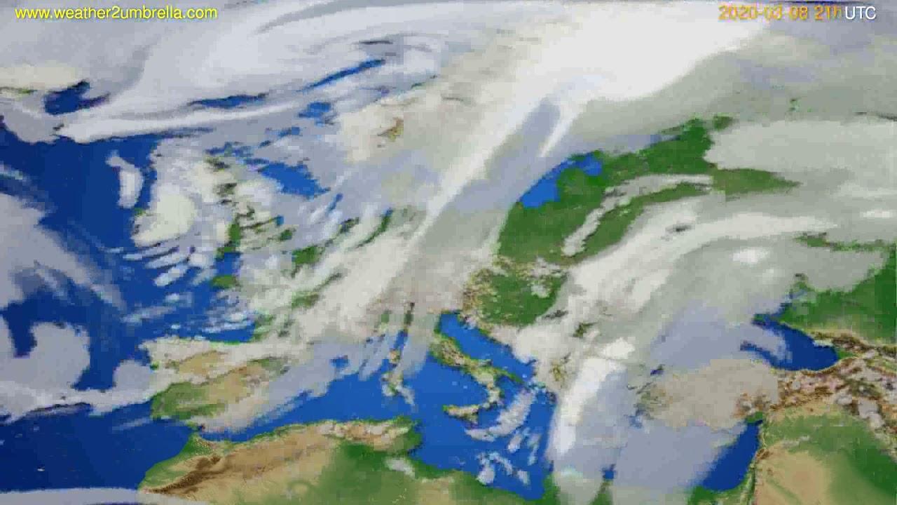 Cloud forecast Europe // modelrun: 12h UTC 2020-03-07