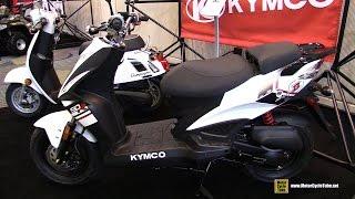 7. 2016 Kymco Super 8 50R Scooter - Walkaround - 2015 AIMExpo Orlando