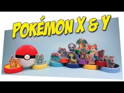 McDonald's Pokemon X and Y Happy Meal Toys Collection Review 2014