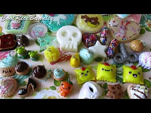 Clay - Watch in HD! ♥ Featuring my 4th batch of resin charms, lots of inspired charms from tutorials, and some sweet deco things :D (Open me for links and such!) ...