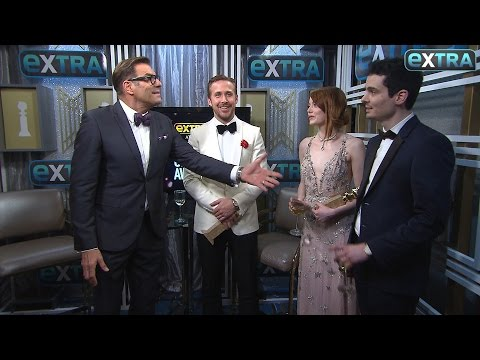 Ryan Gosling, Emma Stone & Damien Chazelle on 'La La Land's' Golden Globes Wins (видео)
