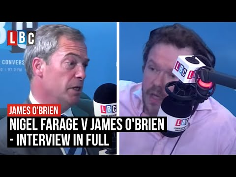 Obrien - Nigel Farage has challenged James O'Brien to a debate over his criticism of Ukip. Watch it live from 11.30 this morning.