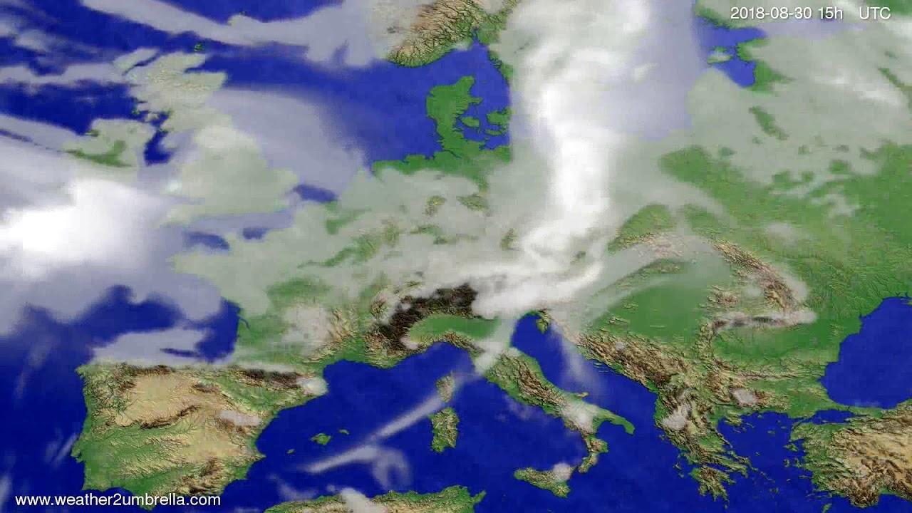 Cloud forecast Europe 2018-08-28