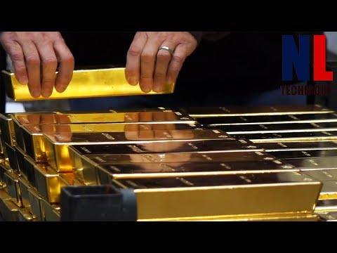 Amazing Melting Pure Gold Technology - Modern Gold Coins and Bars Manufacturing Process
