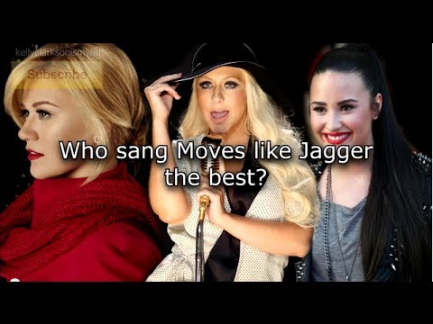 Who sang Moves Like Jagger better? Christina Aguilera vs Kelly Clarkson vs Demi Lovato Showcase