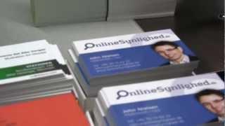 Tryk af visitkort - som offset tryk hos MediaMouse