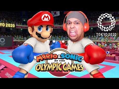 MARIO OUT HERE DOING KARATE!! LET39S GO!!! MARIO amp SONIC 2020 TOKYO OLYMPIC GAMES