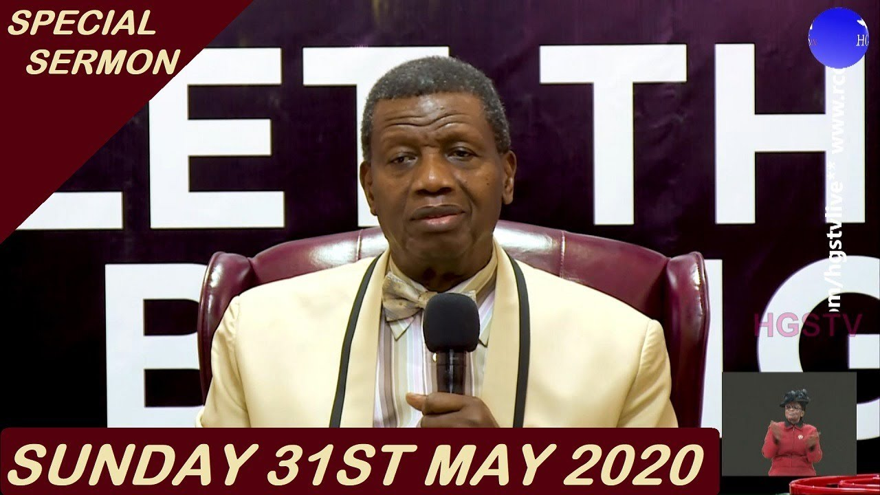 RCCG Sunday Service 31st May 2020 by Pastor E. A. Adeboye