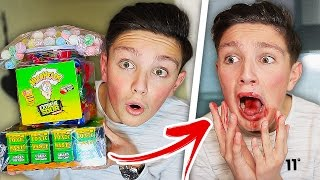 EATING 1000 WARHEADS  GONE WRONG! 😱 (IMPOSSIBLE CHALLENGE)